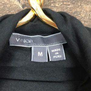 Vince Tops - VINCE Drop Shoulder Turtleneck Black Top Medium